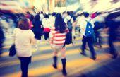 Pedestrians in Rush Hour — Stock Photo