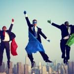 Superhero Businessmen Flying — Stock Photo #63120213