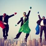 Superhero Businessmen Flying — Stock Photo #63120729
