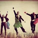 Superhero Businessmen Flying — Stock Photo #63120739