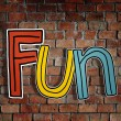 The Word Fun on  Wall — Zdjęcie stockowe #63123613