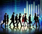 Sylwetka ludzi biznesu — Zdjęcie stockowe