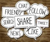 Koncepcji sieci społecznej — Zdjęcie stockowe