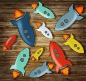 Colorful Rockets Symbols — Stock Photo