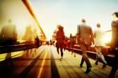 Business People Walking — Stock Photo