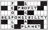 Social Responsibility words crossword — Stock Photo