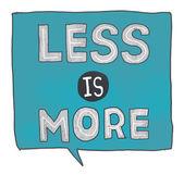 Less is More Concept — Fotografia Stock