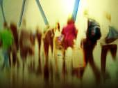 People in Rush Hour in  Terminal — Stock Photo