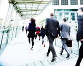 Business People Walking — Stock Photo