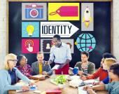 Personas y la identidad Branding Marketing concepto de negocio — Foto de Stock