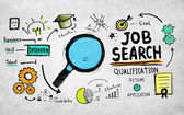 Job Search Qualification Concept — Stock Photo