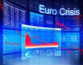 Euro Crisis, Financial Banking Concept — Stock Photo