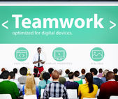 Business concept of Teamwork — Stock Photo