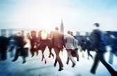 Business People Walking in City — Stock Photo