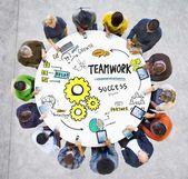 Teamarbeit-Kommunikationskonzept — Stockfoto