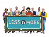 People and sign Less is More  Concept — Stock Photo