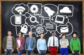 People and Media Communication Technology  Concept — Stock Photo