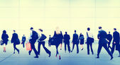 Business People Walking at Rush Hour — Stock Photo