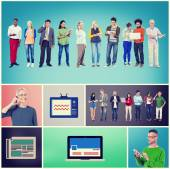 Communication Networking Concept — Foto Stock