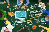 浅谈社会网络的人 — 图库照片