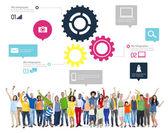 Teamwork Business Concept — Stock Photo