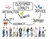 Customer Loyalty Business Concept — Stock Photo