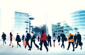 Business People Walking in the City — Stock Photo