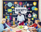 Concept of business Society — Stock Photo
