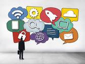 Mediální komunikace koncept — Stock fotografie