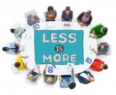 People and Less is More sign Concept — Stock Photo