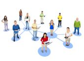 Social Networking Concept — Stock Photo