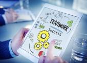 Teamwork Technology Concept — Stock Photo