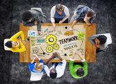 Biznes koncepcja pracy zespołowej — Zdjęcie stockowe
