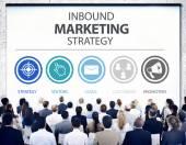 Inbound Marketing Strategy Concept — Stock Photo