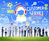 Business people with Customer Service Concept — Stock Photo