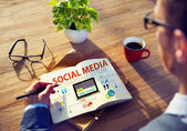 Concept of Social Media — Stock Photo
