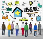 Casual People and Insurance Policy — Stock Photo
