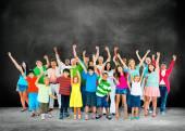 Multi ethnic group of people — Stock Photo