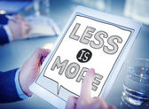 Less is More on Tablet Concept — Stock Photo