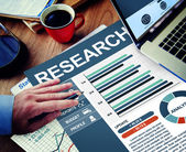 Concept of business research — Stock Photo