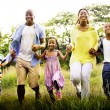 African American family relaxes on the nature — Stock Photo #71580087