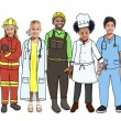 Group of Multiethnic Children in Different professions — Stock Photo #71585627