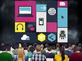 People at seminar about Cloud Computing — Stock Photo