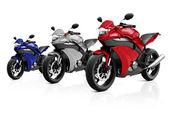 Modern luxury motorcycles — Stock Photo