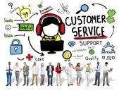 Il concetto di servizio di cliente — Foto Stock
