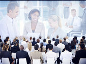 People on business seminar — Stock Photo