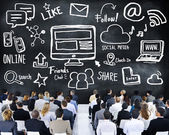 Business People on Seminar of Social Media — Stock Photo