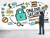 Online Security Protection Concept — Stock Photo
