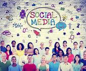 Social Media Communications Concept — Stock Photo