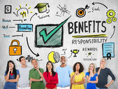 Benefits Business Concept — Stock Photo